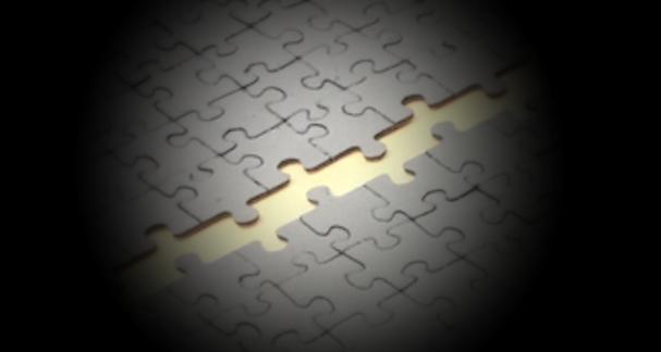 Puzzle wurde in 4 Teilen angeliefert
