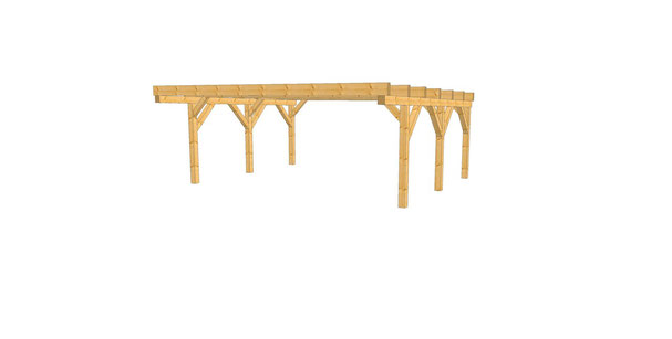 Abbildung zeigt - Flachdach carport eco 6,00m x 5,50m