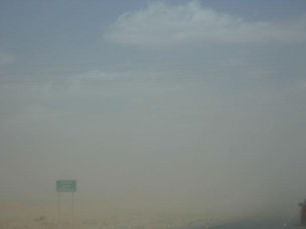 Bild: Sandsturm auf dem Highway