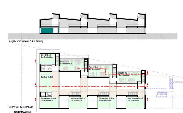 Architekturbüro Silke Hopf Wirth & Toni Wirth Architekten ETH HTL SIA Winterthur, Neubau Ausstellungs- und Verkaufsgebäude Sky-Frame,  Projekt 1, R+G AG, Ellikon