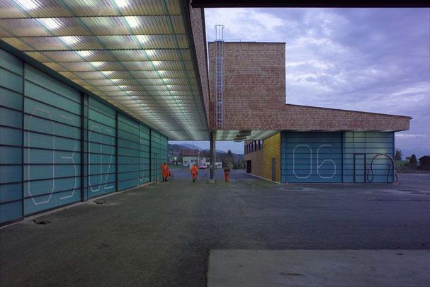 Architekturbüro Silke Hopf Wirth & Toni Wirth Architekten ETH HTL SIA Winterthur,  Neubau Erweiterung Werkhof Pfäffikon. Baudirektion Kanton Zürich