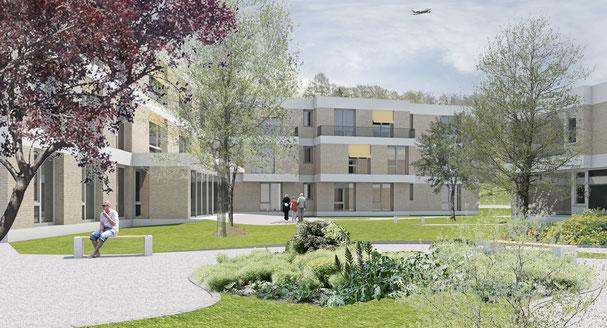 Wettbewerb Neubau Wohngruppen Pigna Kloten Hopf & Wirth Architekten Winterthur