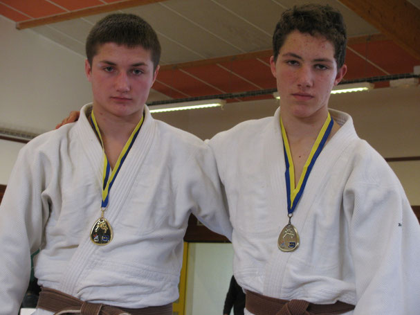 Nicolas Lesellier 1er -81 kg et Augustin D'Angelo 3ème -66 kg