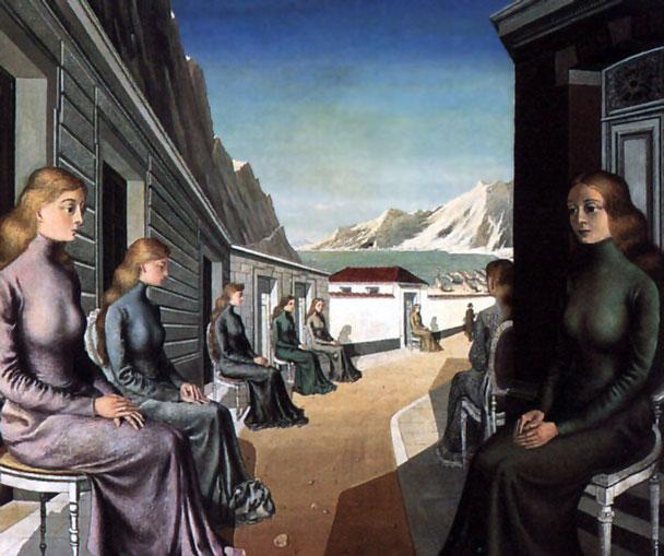 ポール・デルヴォー「人魚の村」(1942年)