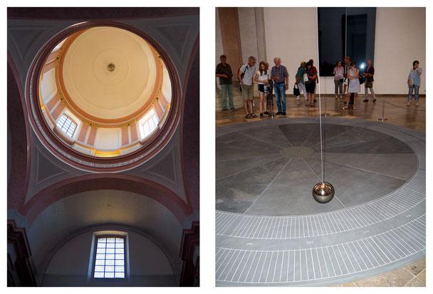 anklicken zum vergrößern: die Dominikanerkirche ist schon längere Zeit kein Gotteshaus mehr. Seit Juni 2018 hängt hier das Foucaultsche Pendel, geschaffen von Gerhard Richter