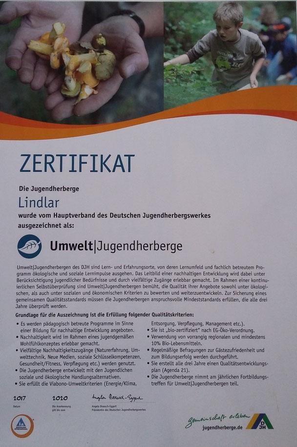 Umwelt Jugendherberge Lindlar Natur Bergische Land Bildung Lehrer Klasse Schule