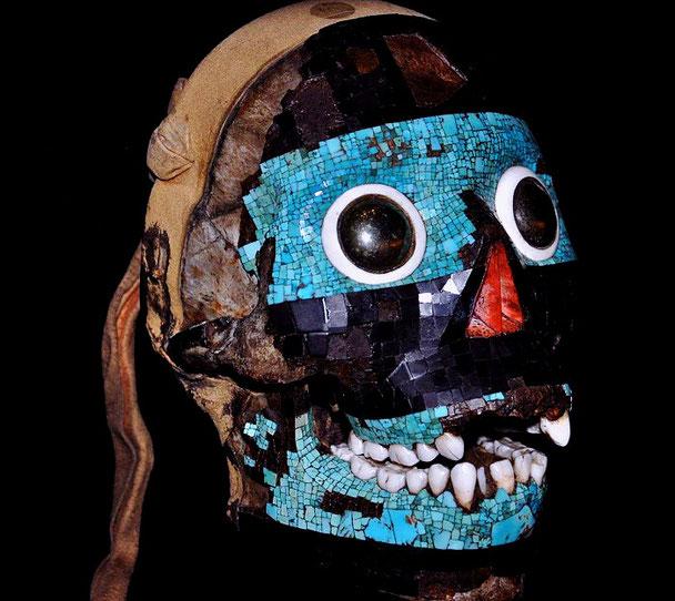 Masque-crâne art aztèque