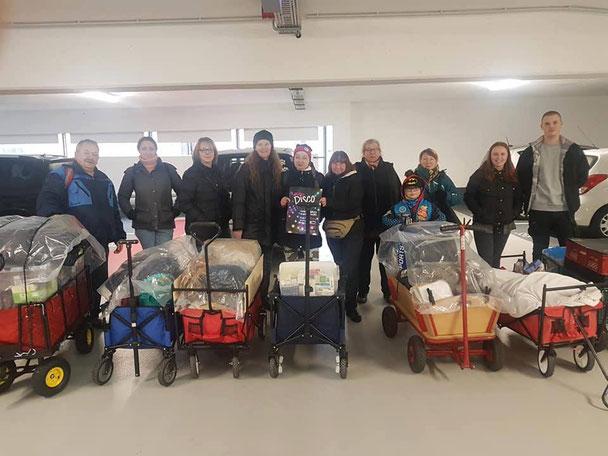 Obdachlosen Aktion - Helfende Hände - Bollerwagen Crew Nürnberger Land