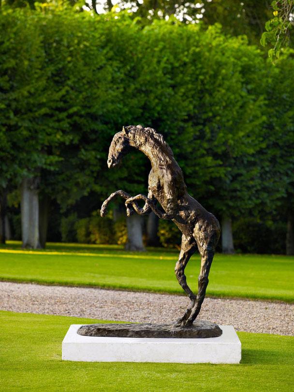 GRAND CHEVAL-HOMME Bronze signé et daté 2007. 53x60x100 cm. Fonderie de la Plaine  1/6