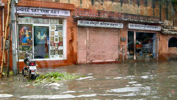 Hochwasser in Jaipur, Reisebericht Indien