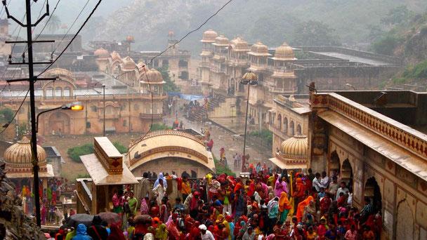 Indien Reise, Monkey Temple bei Jaipur