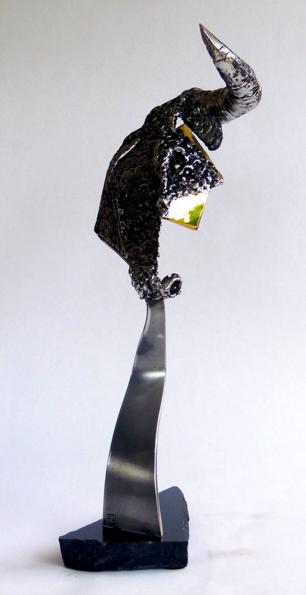 Bravos Hauteur 54cm    Inox, Marbre