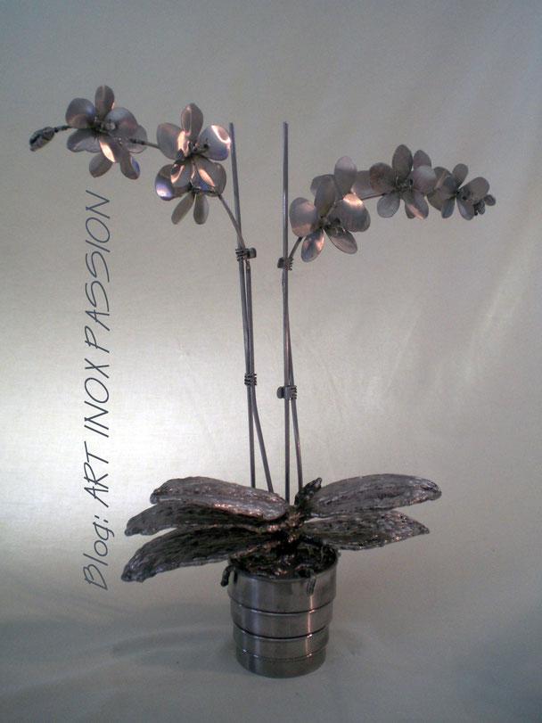 L'orchidée      Hauteur  45cm    Inox