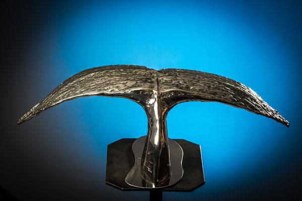 plongée majestueuse      env 54  H 17cm      Inox