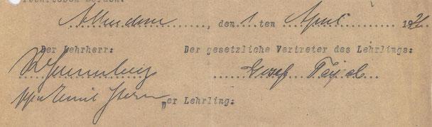 Unterschrift R. Lenneberg von Hermann Stern