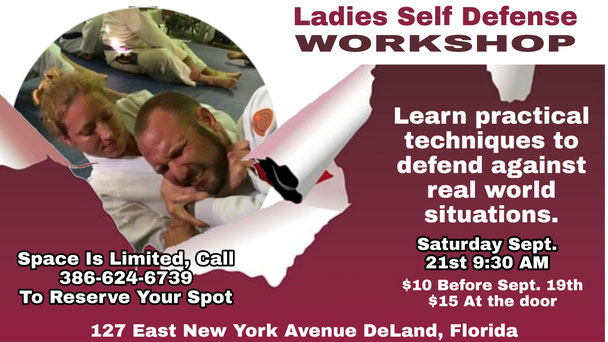 Gator Family Brazilian Jiu-Jitsu Self Defense Seminar Flyer