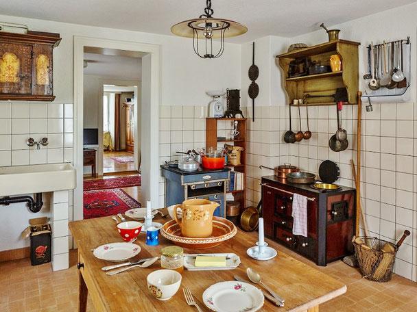 Dorfmuseum Buchs-Aarau, Leben um 1900, Küche