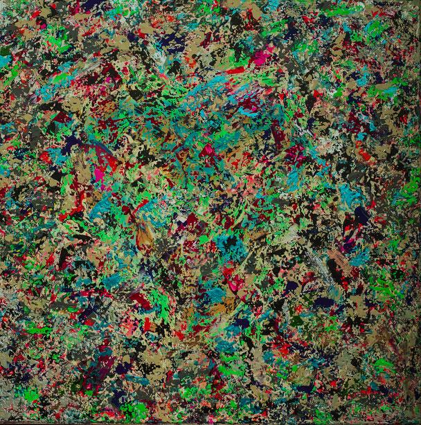 "Titel: ""EVERYTHING"" (2016),  70 cm x 70 cm"