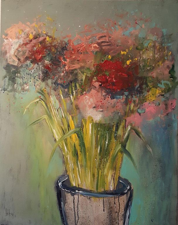 bernadette leclercq art fleur peinture