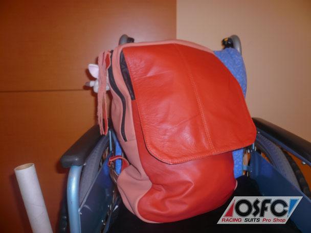 革職人教室 生徒さん作品☆ 車椅子用の鞄(かばん)