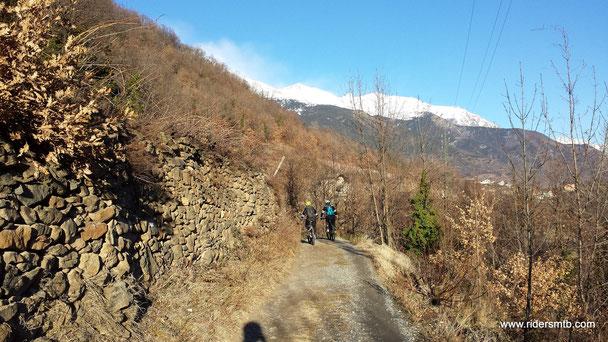 Il sentiero balcone verso Giaglione