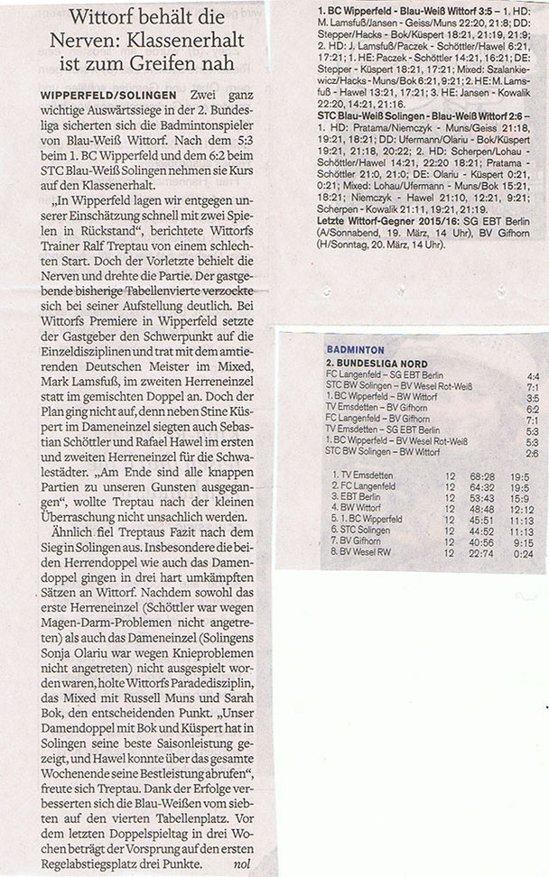 5. Spieltag 2015/2016