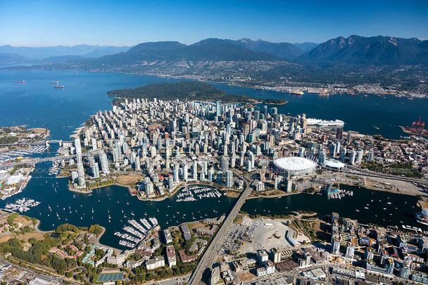Aerial Photo-Vancouver City Skyline