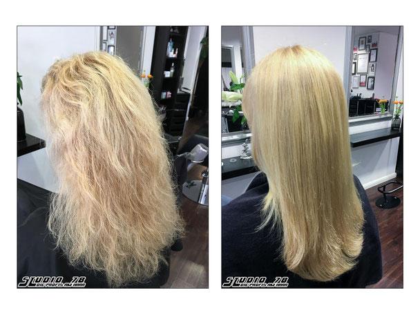 Goldwell Kerasilk permanente Keratin Haarglättung vorher nachher