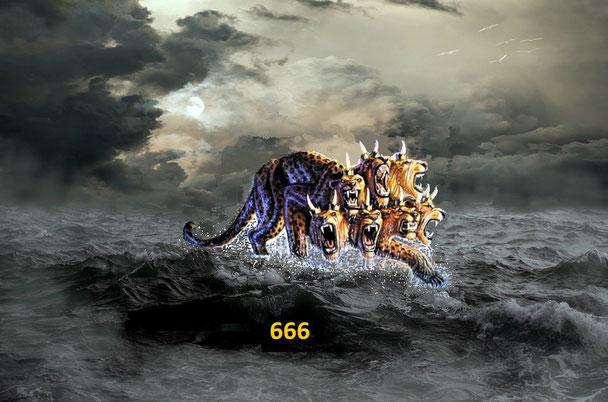 La grande tribulation sera déclenchée par une organisation internationale représentée sous les traits d'une bête à 7 têtes et 10 cornes qui monte de la mer: l'ONU qui a l'admiration de tous les pays et qui a reçu le pouvoir de toutes les nations.
