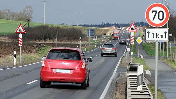 Bereits von Maar würde die rund 17 Kilometer lange Umgehung beginnen. Hier ist die Strecke zwischen Lauterbach und Maar abgebildet.
