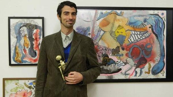 David Weiss verleiht seiner Inspiration auf vielerlei Arten Ausdruck - ob in Drucken, Zeichnungen oder Skulpturen.