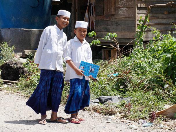 Schoolkinderen op Sumatra