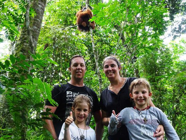 Trekking met het gezin op zoek naar orang-oetans door het Gunung Leuser National park