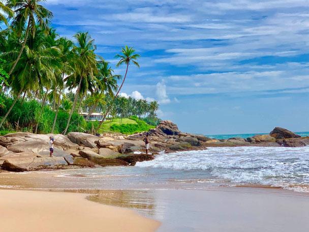 Prachtige strand van Tangelle Sri Lanka