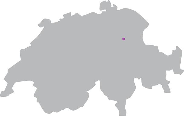 Umriss Schweiz mit Markierung bei Amden