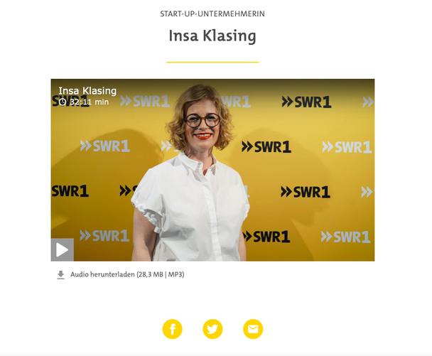 Podcast vom SWR mit Insa Klasing und Nicole Köster