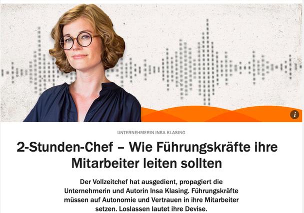 """Beitrag von Insa Klasing im """"So klingt Wirtschaft"""" Podcast der Solutions by Handelsblatt"""