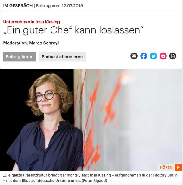 Podcast von Deutschlandfunk Kultur mit Insa Klasing und Marco Schreyl