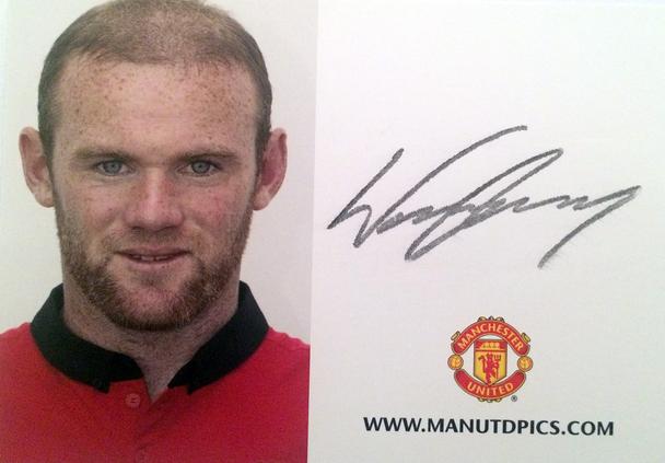 Wayne Rooney Autograph Autogramm