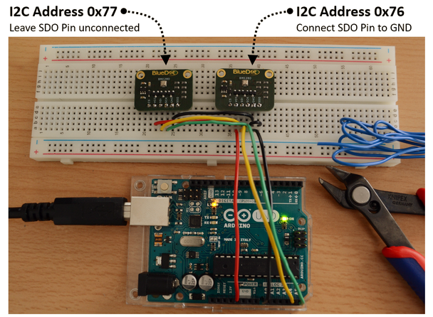 Connect two BME280 Sensors on the I2C bus - BlueDot Sensors