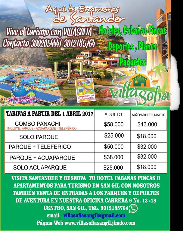 Acuaparque en san gil, venta de boletas al acuaparque, parque nacional del chicamocha, acuparque, villasofia agencia de viajes