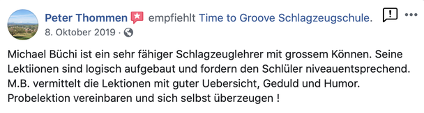 Feedback Time to Groove Schlagzeugschule