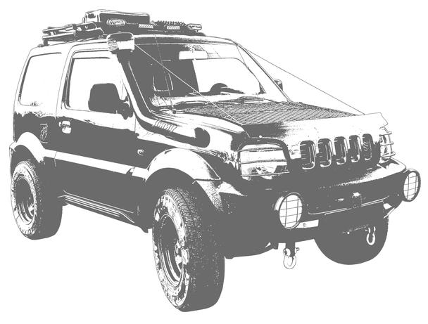 Jimny FJ 2003 Stencil