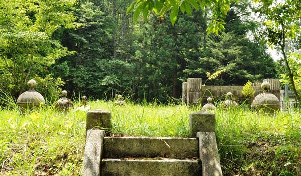 忘れられた遺跡のような三日町配水池の上部