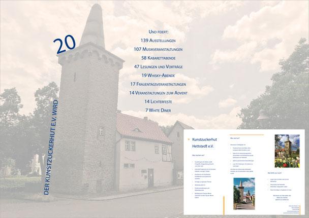 Flyer zum 20 jährigen Vereinsjubiläum 2019.
