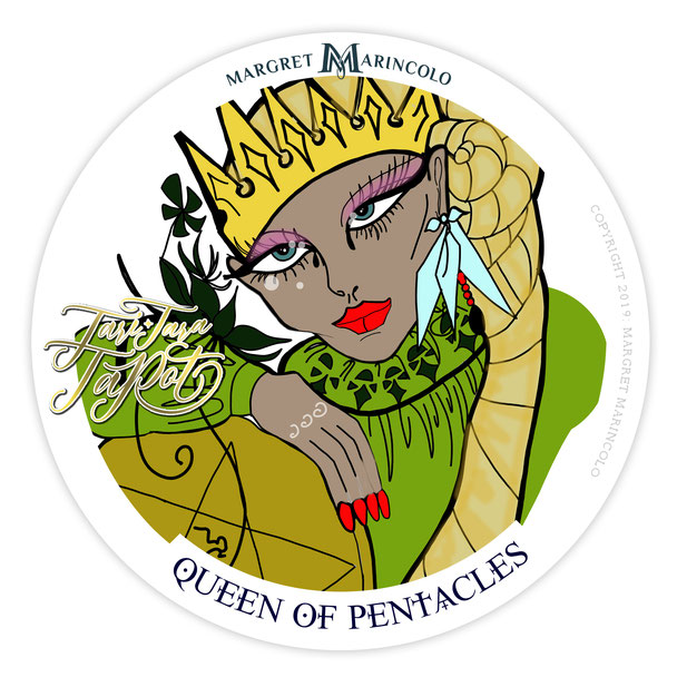 Königin der Münzen im Tarot