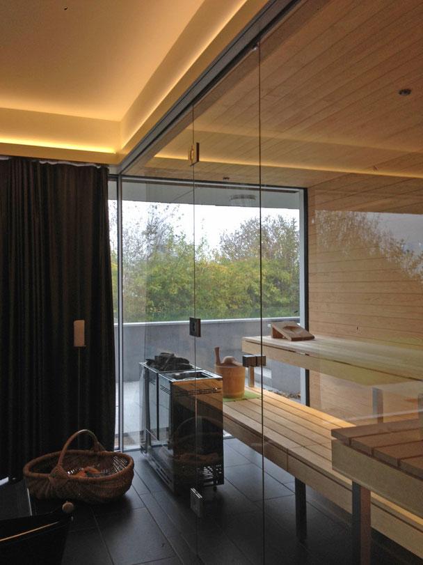 Architekturbüro Silke Hopf Wirth & Toni Wirth Architekten ETH HTL SIA Winterthur, Innenausbau Saunabereich