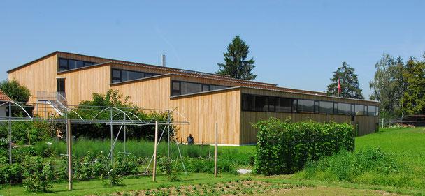 Architekturbüro Silke Hopf Wirth & Toni Wirth Architekten ETH HTL SIA Winterthur,  Neubau Werkstätten Landheim Brüttisellen. Caspar Appenzeller Stiftung Brütisellen