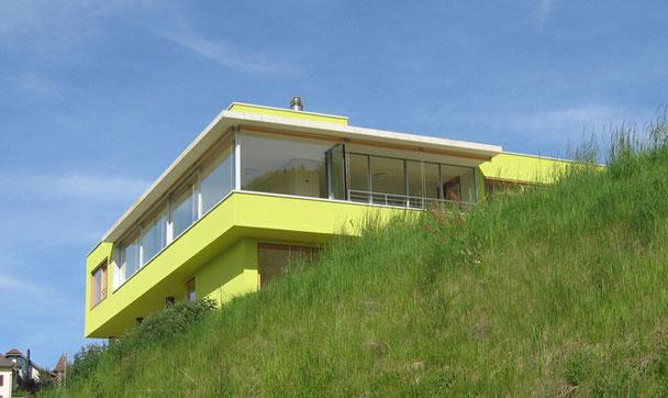 Architekturbüro Silke Hopf Wirth & Toni Wirth Architekten ETH HTL SIA Winterthur, Neubau Einfamilienhaus in Mühlethal, Zofingen Wettbewerb 2002