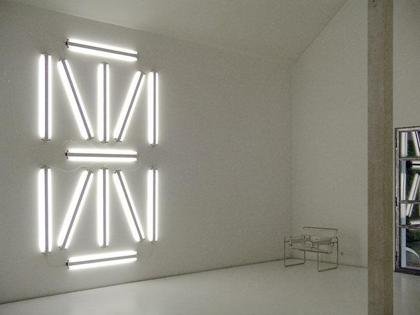Daniel Schörnig SEGMENT, 2007  light strips (wall mounting)